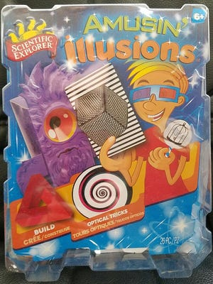 Amusin' Illusions includes more than a dozen visual conundrums that will have you rubbing your eyes and scratching your head.