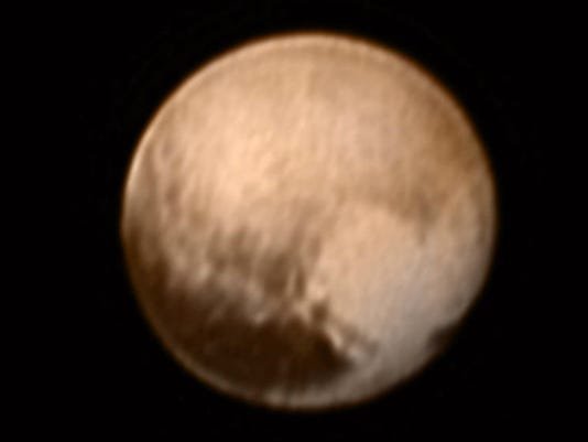 The heart on pluto