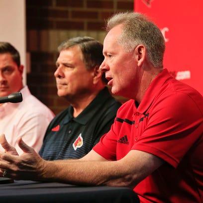 Louisville football coach Bobby Petrino talks about