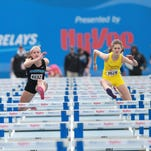 Valerie Welch of Iowa City West finished in fourth in the girls' 100-meter hurdles at the Drake Relays on Friday.