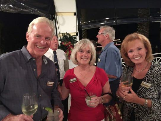 From left, Jim McKeown, Kathy Caruso and Marcia Conley