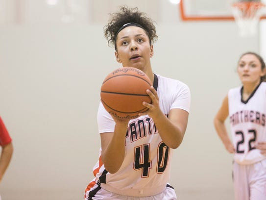 Central York's Teirra Preston had 16 points in the