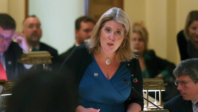 State Assemblywoman Holly Schepisi, a Republican from River Vale.