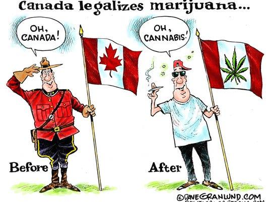 Cartoon: Canada Legalizes Marijuana