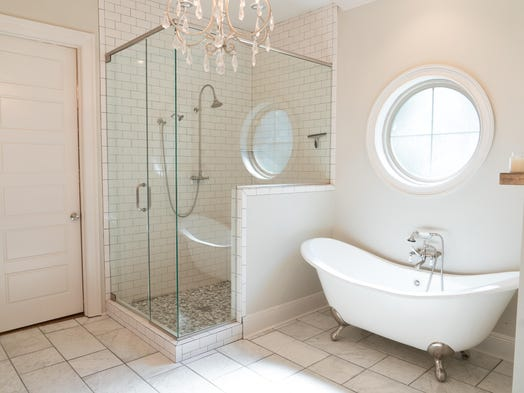 West monroe couple take us inside their french country estate for 12 x 48 bathroom window
