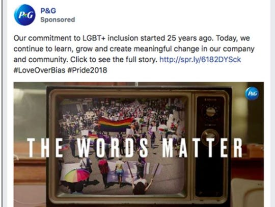 Facebook banned a P&G promo for its 'The Words Matter'