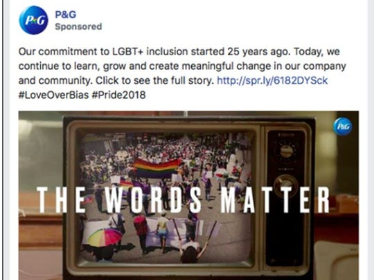 Facebook banned a P&G promo for its 'The Words Matter' film celebrating its commitment to LGBT inclusion.