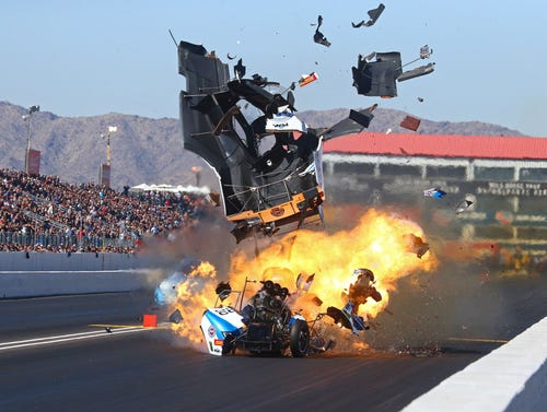 John Force released from hospital after crash in Arizona Nationals