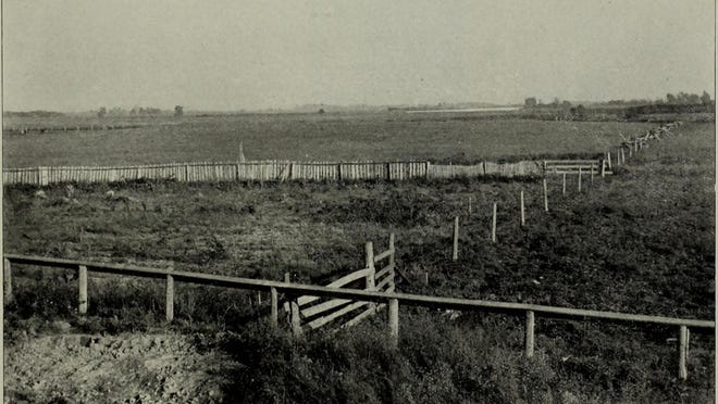 The Shawnee Spring  photo, circa 1900. Plum Creek Bat is in the distance.