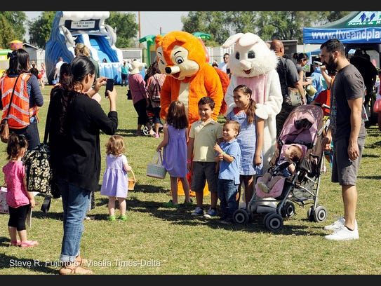 Hundreds came out Saturday to find eggs during the