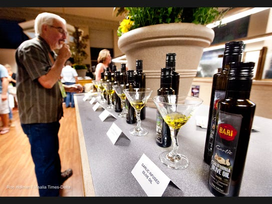 Garlic infused olive oil, by Bari Olive Oil pictured,