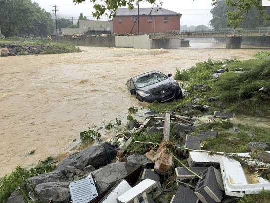 In this photo released by the The Weather Channel,