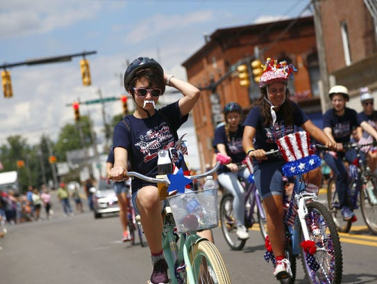 Bicycles take center stage in the parade, an annual