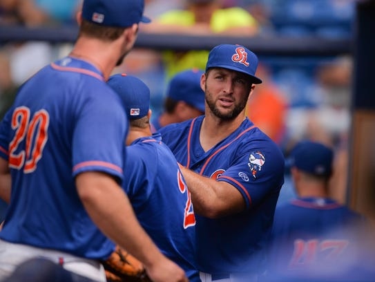 St. Lucie Mets Tim Tebow is on a 11-game hitting streak