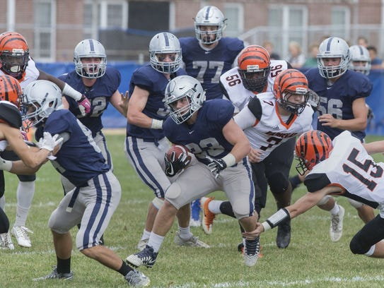 Manasquan's Canyon Birch looks for running room during