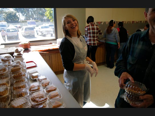 Thanksgiving day meals Thursday at the Salvation Army