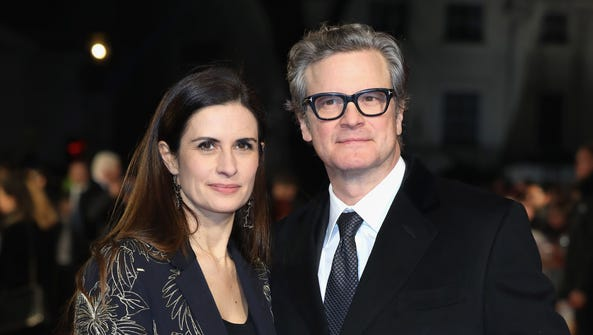 Actor Colin Firth and his wife Livia Firth attend 'The