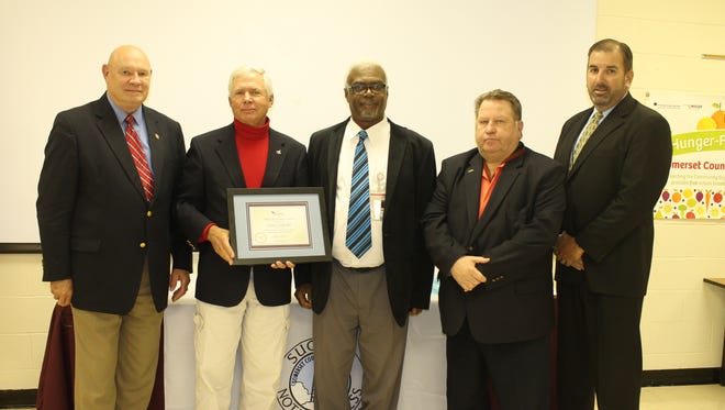 oard Chairman Warner Sumpter, Board Vice Chairman Dan Kuebler, Workforce Investment Board Executive Director Milton Morris, Somerset County Public Schools Workforce Development (Left to right) Supervisor Conal Turner and Superintendent of Schools Dr. John Gaddis.