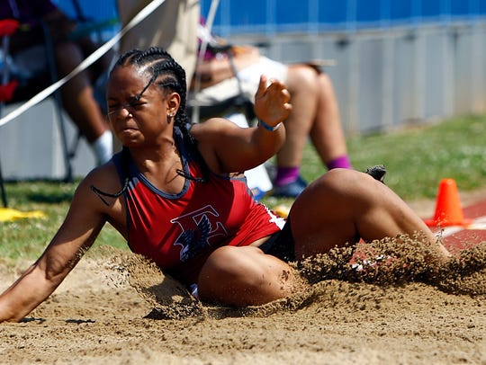 East Nashville's Jalena Curbeam competes in the long