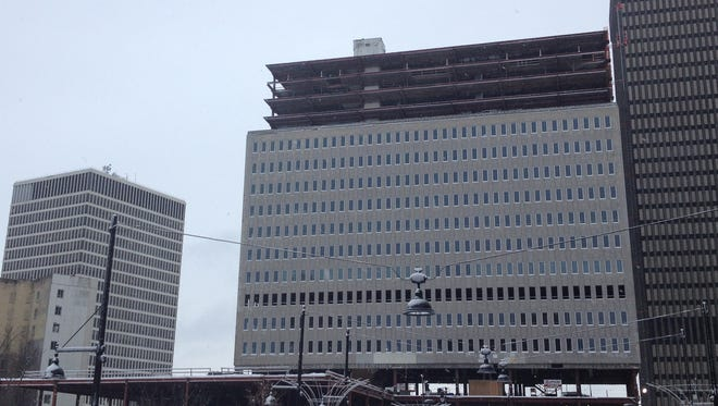 The Tower at Midtown continued to take shape in December. The developers have secured the final financing for the project.