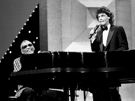 B.J. Thomas' soulful sounds blended well with Ray Charles, who performed with him on Oct. 8, 1984, during the CMA Awards.