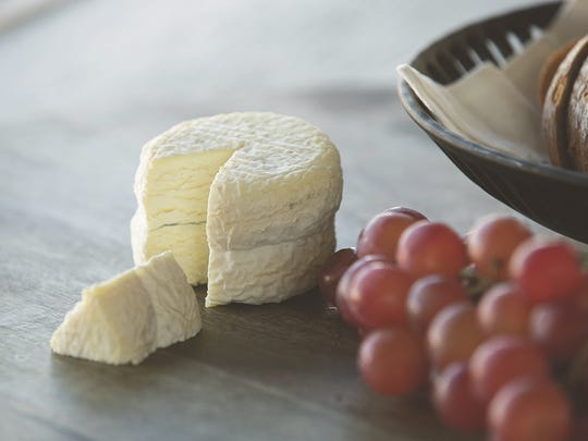 Maytag Dairy Farms' La Petite Blue cheese.