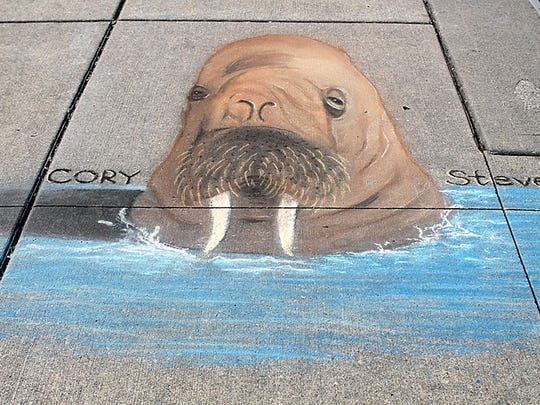 Chalk art in Gig Harbor on July 15.