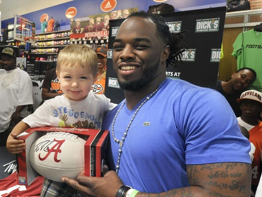 Richardson Wyatt Stearns, 2, poses for a photo with