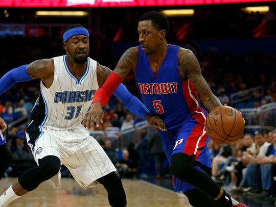 Mar 24, 2017; Orlando, FL, USA; Detroit Pistons guard