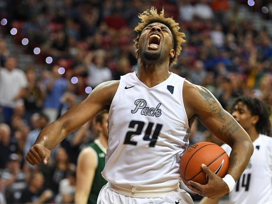 Jordan Caroline, a transfer from Southern Illinois, was a big hit last season. He is one of a number of Division I transfers who has been lured to Reno since Eric Musselman was hired as Nevada's head coach.
