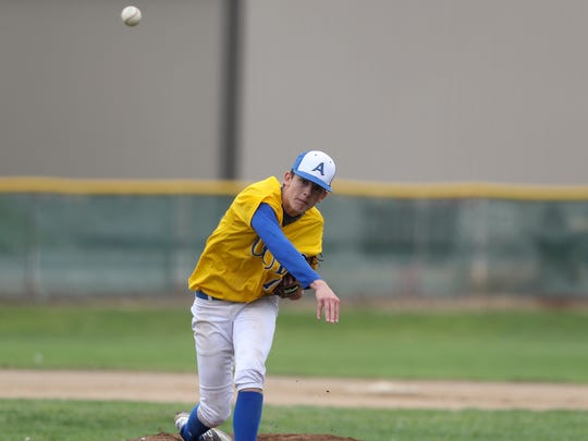 Anderson High School pitcher Carson Shaw delivers the ball during their recent game against Eureka.