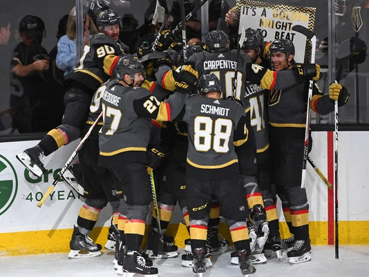 NHL: Stanley Cup Playoffs-Los Angeles Kings at Vegas Golden Knights