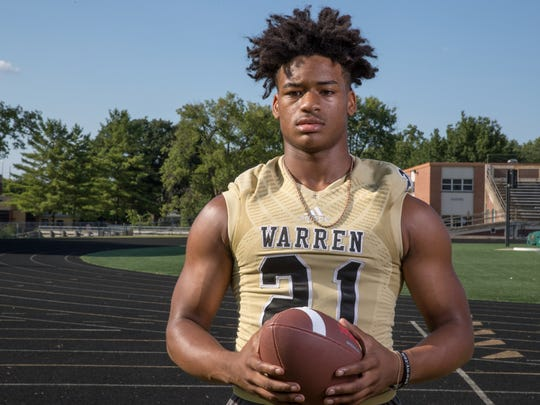 Romeir Elliott, running back, Warren Central High School,