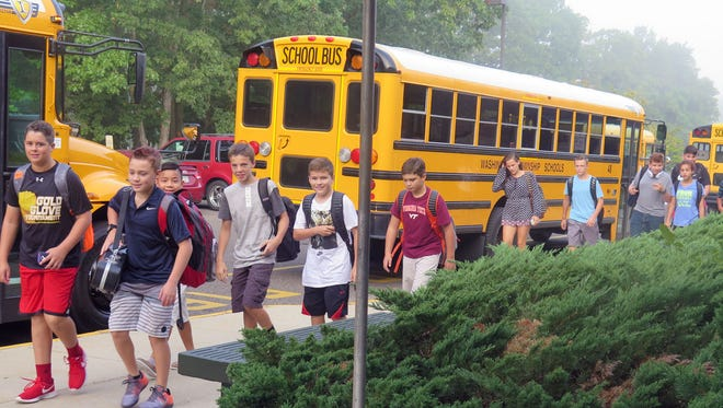 Orchard Valley Middle School students begin a new year in Washington Township.