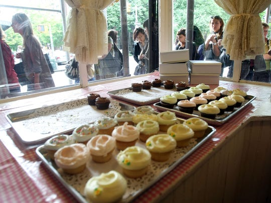 Participants and customers once waited on line to buy cupcakes from the Magnolia Bakery during a 2008 'Sex and the City' in New York City. The cupcake trend seems to be  over.