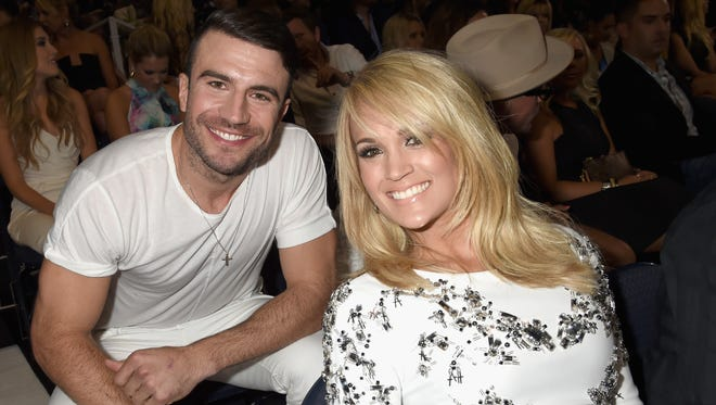 Two big winners: Sam Hunt and Carrie Underwood both took home trophies from the 2015 CMT Music Awards at the Bridgestone Arena on June 10, 2015 in Nashville.