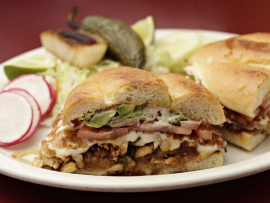 Check out Los Reyes de la Torta for menu items like