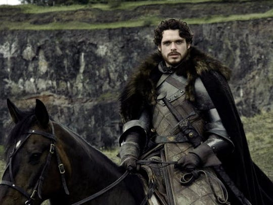 "Richard Madden in a scene from the television program ""Game of Thrones."""