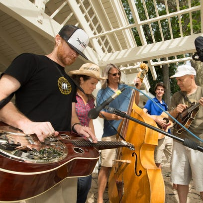 Bluegrass band Blue Plate Special performs at the Graydon