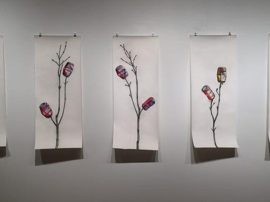 "Rafael Francisco Salas' ""Longing,"" a set of charcoal"