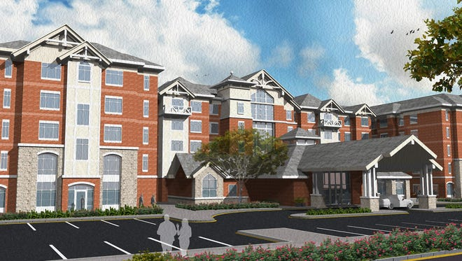 The proposed Inn at Bellefield on Route 9 in Hyde Park is shown in this rendering.