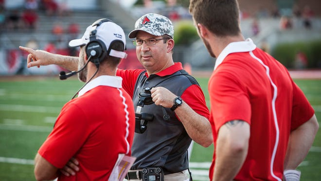 Coach Pete Lembo during Ball State's game against VMI.