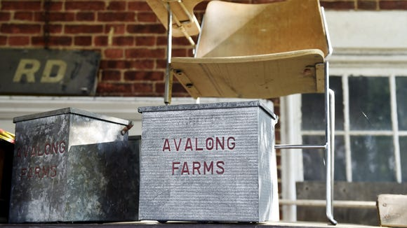 Avalong Farms relics are on display at Good Old Boy Country Auction Saturday, May 28, 2016, in Manchester Township.