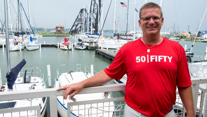 Pat Hoy, pictured Thursday, July 5, 2018, will be racing in his 25th Port Huron to Mackinac race next weekend. Once racers have completed 25 races, they become known as Old Goats.