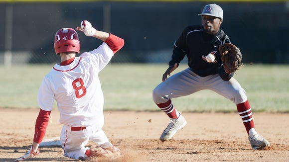 Asheville High senior Eric Robinson, right, has committed to play college baseball for North Carolina Central.