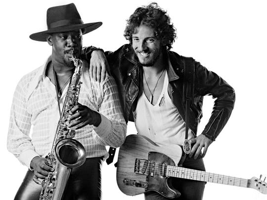 Clarence Clemons and Bruce Springsteen.