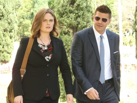 "Temperance Brennan (Emily Deschanel), a forensic anthropologist, works with FBI agent Seeley Booth to solve crimes while debating science in ""Bones."" Though the show called it quits in 2017, it lives on in reruns."