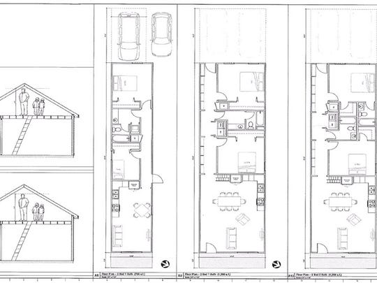 These are floor plans for the homes being built in