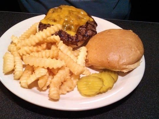 The Hawkeye Burger at Ankeny Diner.
