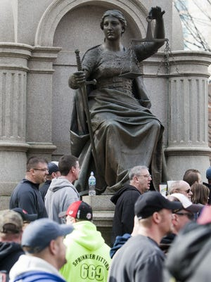 The traditional image of Lady Justice is one that has become ethically challenged by campaign contributions.
